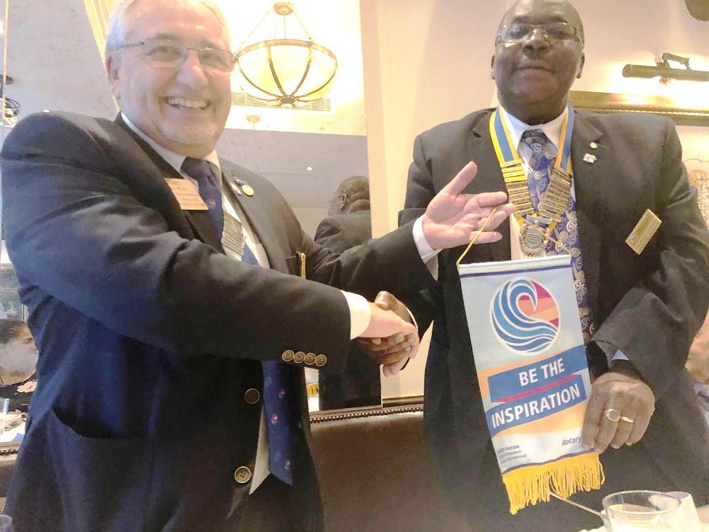 District Governor's visit on 19th September 2018 - President Juvenal Shiundu Receives the District Governor's Flag