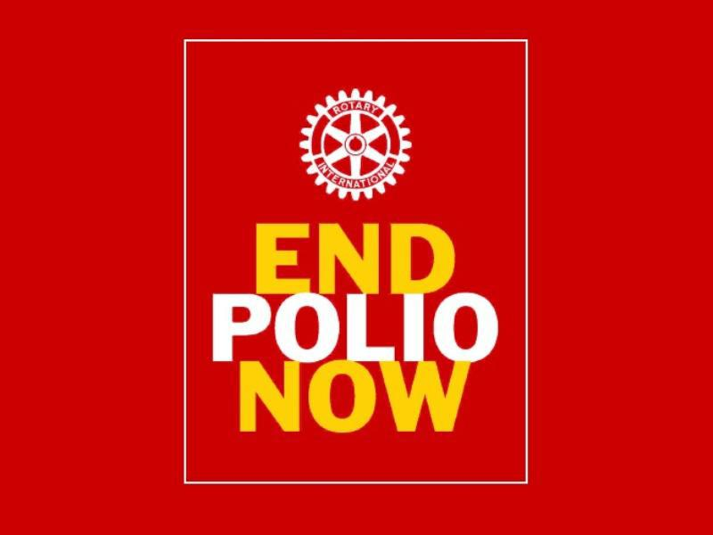 Rotary campaign to eradicate Polio - we are this close. -