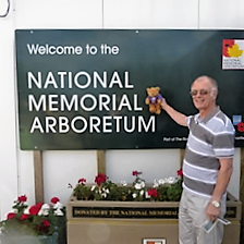 Teddy's first visit - to the National Memorial Arboretum at Alrewas, Staffordshire