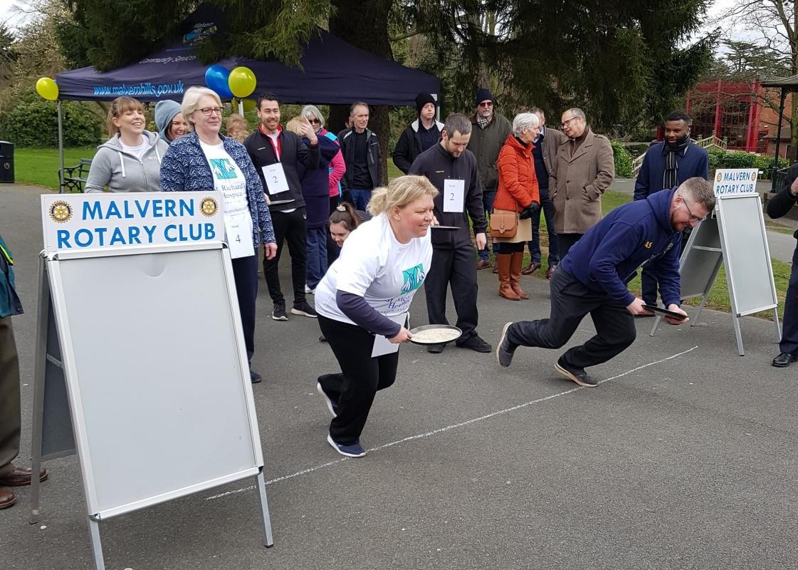 Pancake racing taken very seriously by some competitors