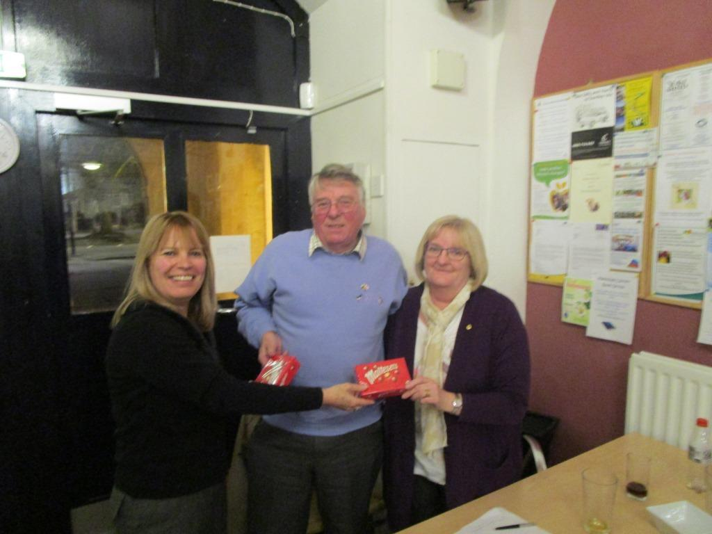 Supper - Club Quiz evening - The quiz winners