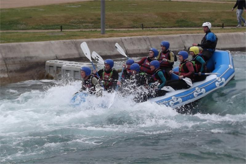 Visit to Lee Valley White Water Centre - Rotarians at Lee Valley White Water Centre