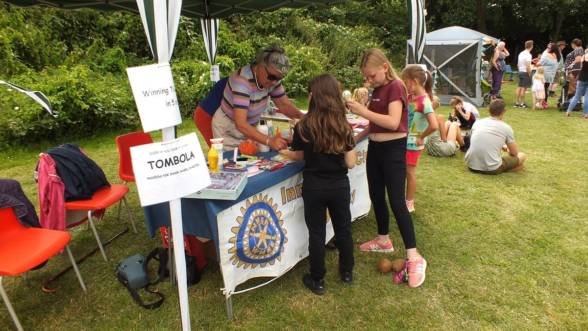 Kids Fun Day 13th July 2019 at Castle Meadow - Inner Wheel Tombola
