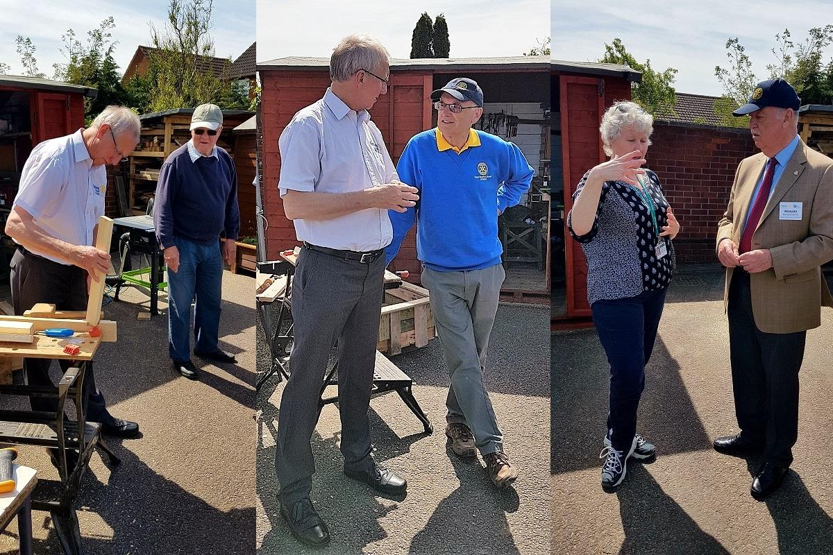 Visit by RIBI President Denis Spiller - The President of Rotary International Great Britain and Ireland sees some of our community projects