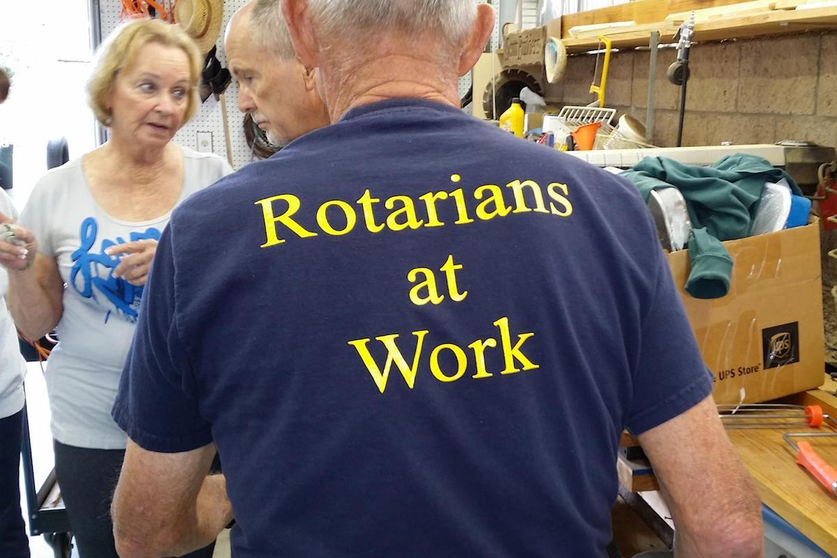Rotarians at work