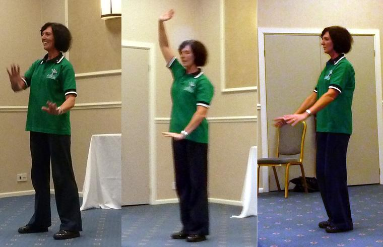 Tai Chi with Bernie Coates - Rotarian Bernie Coates gave an interactive demo and talk on the eastern art of Tai Chi