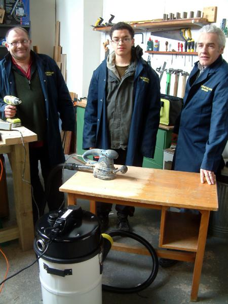 Dust extractor provided for the workshop of the Knighton Community Support Group