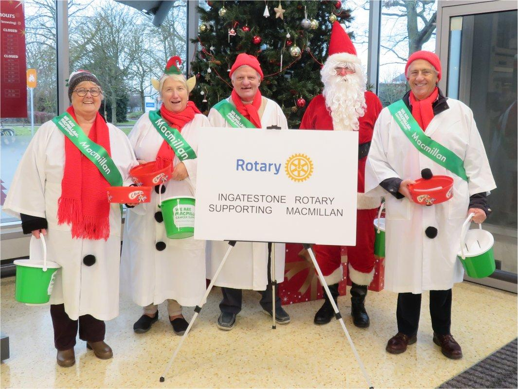 Macmillan Cancer Support - Sainsburys - Collecting for Macmillan Cancer Support at Sainsburys - Dec 2017