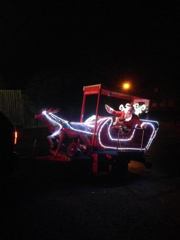 Santa sleigh received a great reception.