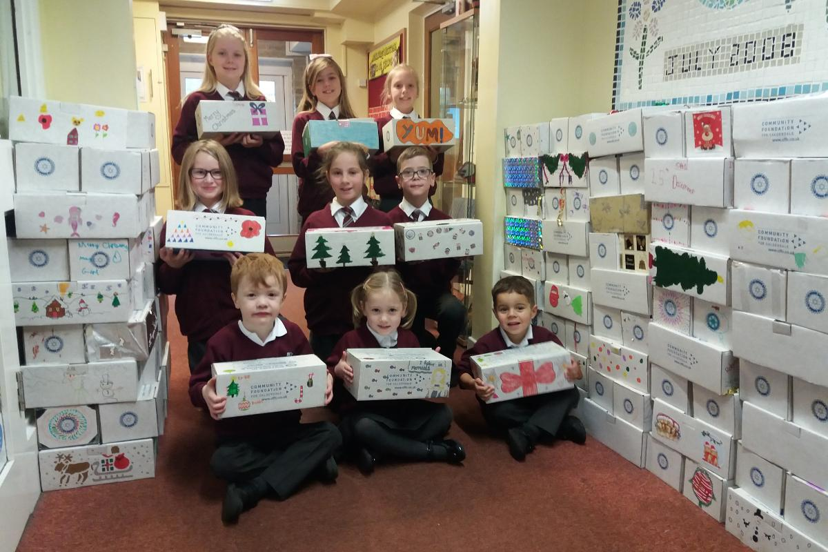 Rotary Shoeboxes - St Chad's School - part of the shoebox donation.