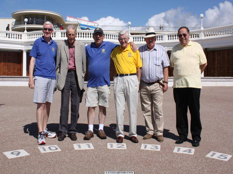 Rotarians of Bexhill unite to celebrate their new Sundial -