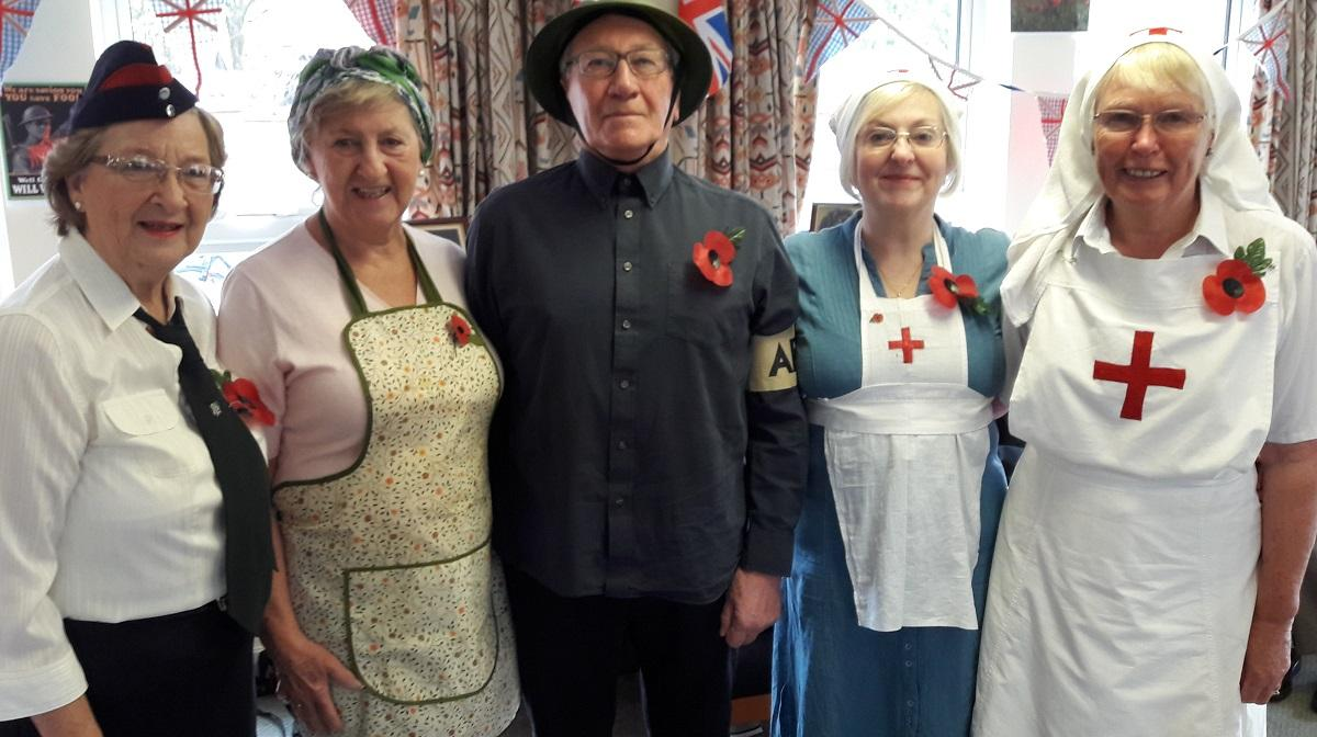 Nov 2017 Girton Memory Cafe  - St Vincents Community Hall - our costumes