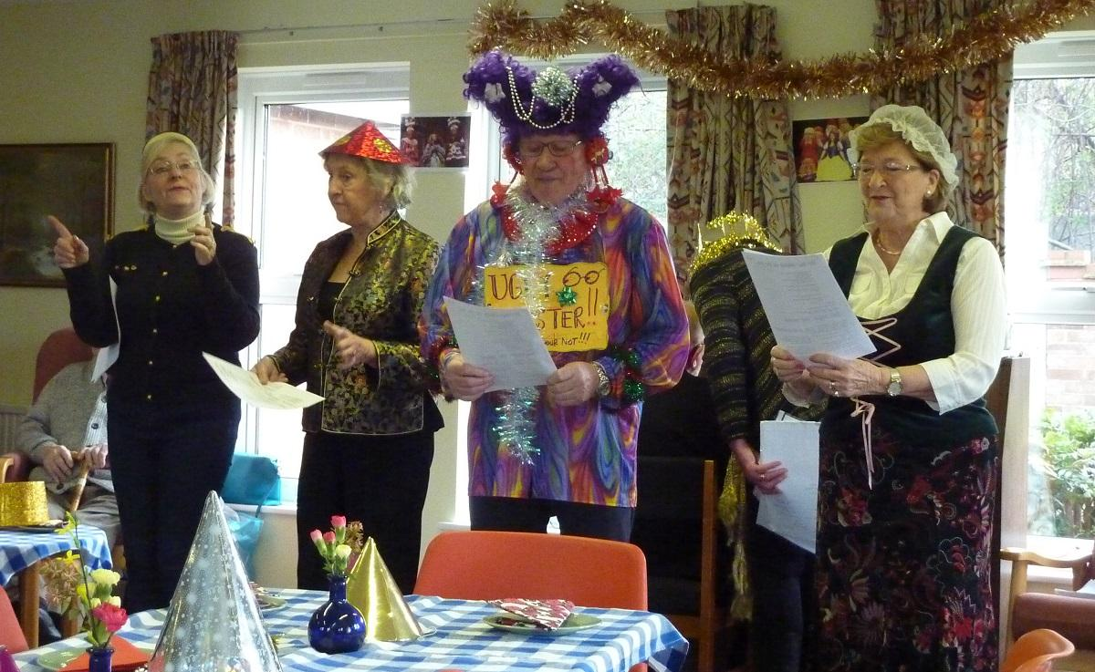 Jan 2018 Girton Memory Cafe - PANTO TIME - on the BBC ! - our Panto troupe