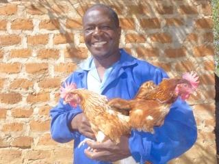 Our Zambia Project - Update - A member of the local village with just 2 of the flock.