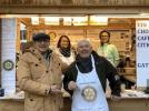 Bill meets up with Rotary Club d'Annecy - Bill at the Lake Annecy Rotary Christmas stall