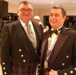 2010 Burns Celebration Dinner - President George with Ken Dow