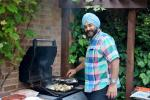 Pinner Rotary Summer Barbecue - Chef Ravi hard at work