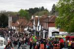 Pinner High Street filled with revellers on Sunday 24th April