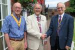 Welcoming David Davies President of the Rotary Club of Oswestry 2017-18.