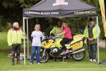 Cornwall Blood Bikes and the representatives of Cancer Research UK