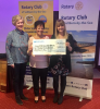 Cheque presentation to Cancer Research -
