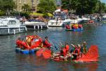 Ely Aquafest 2018 - Some of the rafts at the event