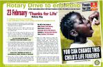 Rotary Thanks for Life -