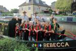 2nd Newbury Cubs - 2014 Barge Trip - 2nd Newbury Cubs with Akelas Martin and Dave on board the Rebecca