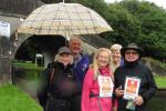 Four Counties Ring Walking Challenge For End Polio - Sylvia Keris with Wolverhampton St George Rotary Club members/friends at Autherley Junction on day 9 of the walk.