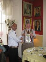 Gopal and his team visit Hayle Rotary Club.