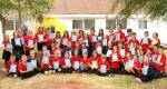 Torquay Rotary in school - School leavers at Barton Hill Academy pictured with their Dictionaries For Life.