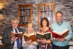 BOOKWORMS: Rotarians Peter Andrew, Carole Ford, Anne Ash and Ian Parminter look forward to Bedale Book Fair