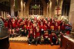 Santa and the children at the Rotary Carol Concert.