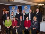 Representatives of the 9 charities who attended the evening