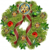 Rotary Christmas wreath