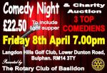 Comedy Night & Charity Auction. Now in it's third year!