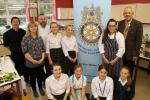 Young Chef at Truro High School - Contestants, judges, and Rotary Club President Bob Sturland