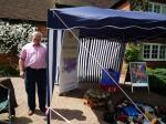 John Hammond and the Rotary Club of Loddon Vale Stand at the Scraecrow Festival at Sonning on Sunday 30th May 2010