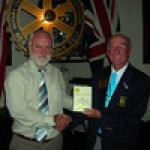 District Governor Ken Boylett