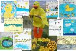 Alloway Primary School Duck Race Posters - Daddy Duck Surrounded by Creative Works