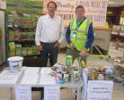 The rotary Club of Denbigh help out at Morrison's collection.