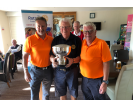 Charity Golf Day 2019 - Rose Bowl Presented to the winners by Mike Hedges.