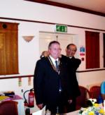 President's Installtion 2008 - President Kevin Maddox receives chain of office from IPP Vikram Tanna