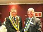 Handover Day - President Les and Past President Iain