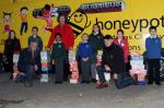 CHRISTMAS SHOEBOXES 2013 - The handover of some of the boxes to Honeypot