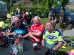 Cycle Challenge June 2013 - Riders relax and re-hydrate at the half-way stage at the Horse and Groom, East Woodlands