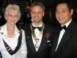 DG Jean Charmak, President Mike Brown, Dalton Leong (CEO Shooting Star)