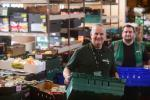 Food Bank Project Manager Hugh McNeil with Warehouse Manager Mitch Brookes