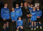 Rotary District Special Needs Football Festival - The Lord Mayor of Birmingham Councillor John Lines is pictured with pupils from Old Park School in Dudley.