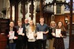 District Young Musicians Final - competitors in the District Final of Young Musician 2018 plus District Governor George Eamer and organiser Marlene Bowden